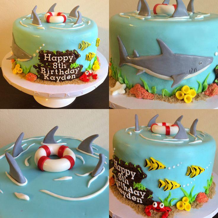 10 Shark Birthday Cakes For Boys Photo