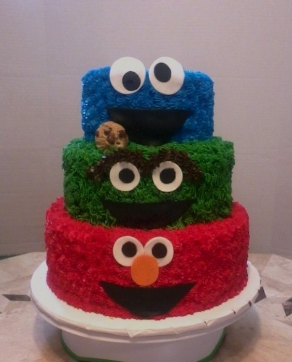 8 Sesame Street Birthday Cakes For Girl Photo - 1 Year Old