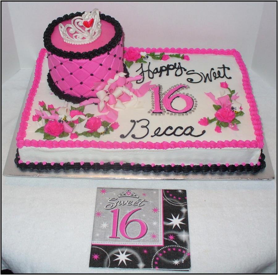 10 Sweet Sixteen Birthday Sheet Cakes Photo Birthday Sheet Cake