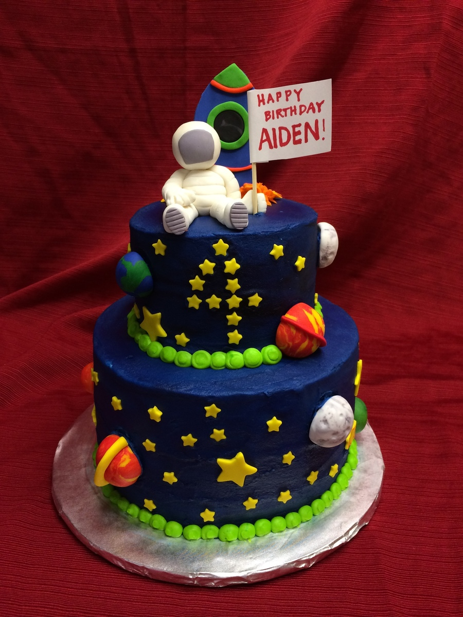 Sensational 9 Space Themed Birthday Cakes Photo Space Themed Birthday Cake Funny Birthday Cards Online Inifofree Goldxyz