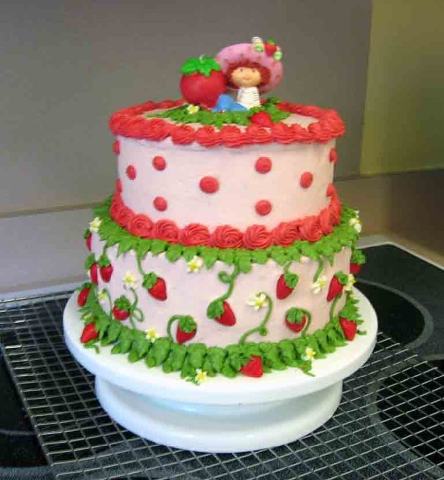 Terrific 7 Nadia Cakes Strawberry Shortcake Photo Strawberry Shortcake Personalised Birthday Cards Beptaeletsinfo