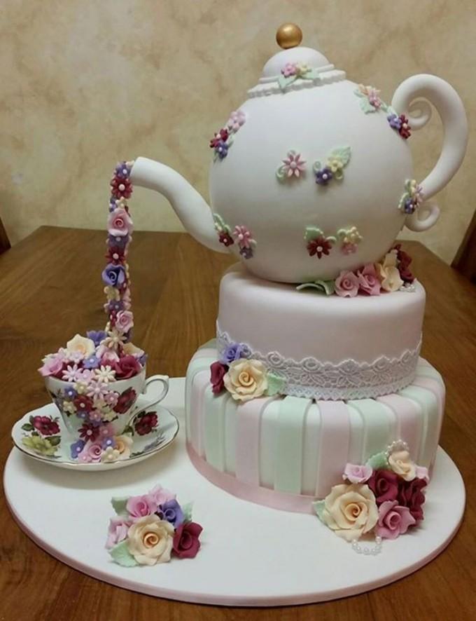 10 Teacup Cakes Ideas Photo Tea Cup And Saucer Cake Tea Party