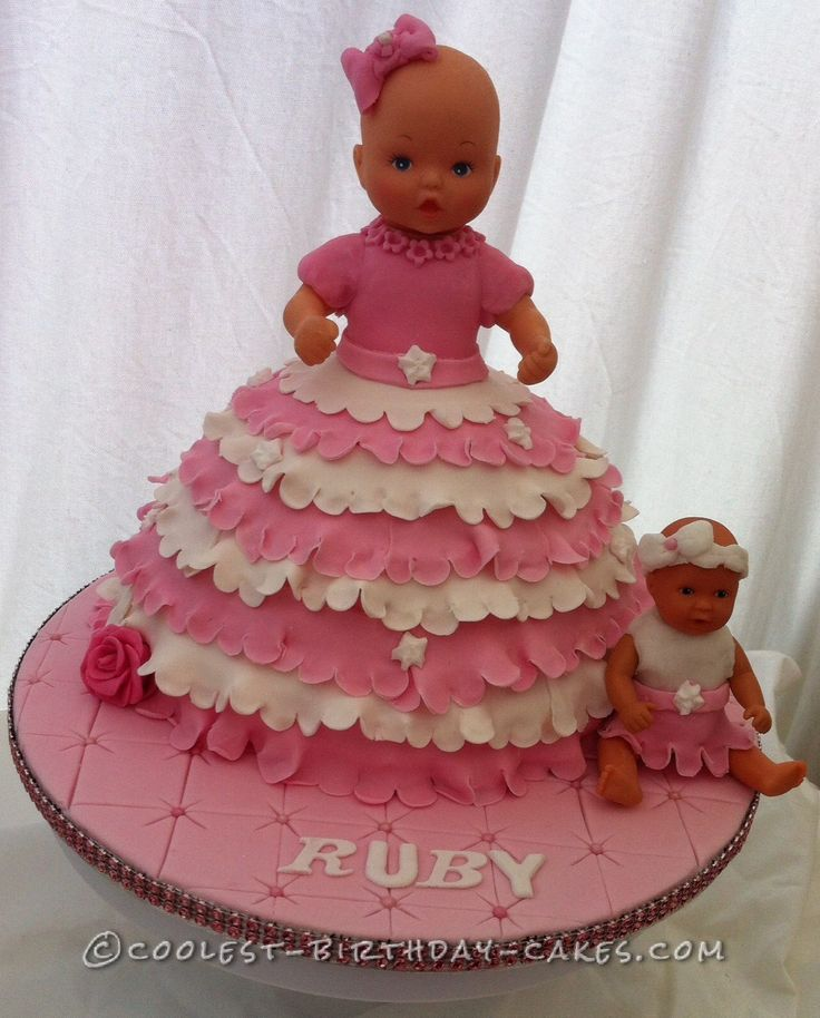 Sensational 12 Birthday Cakes Girls Baby Dolls Photo Baby Doll Birthday Cake Birthday Cards Printable Riciscafe Filternl