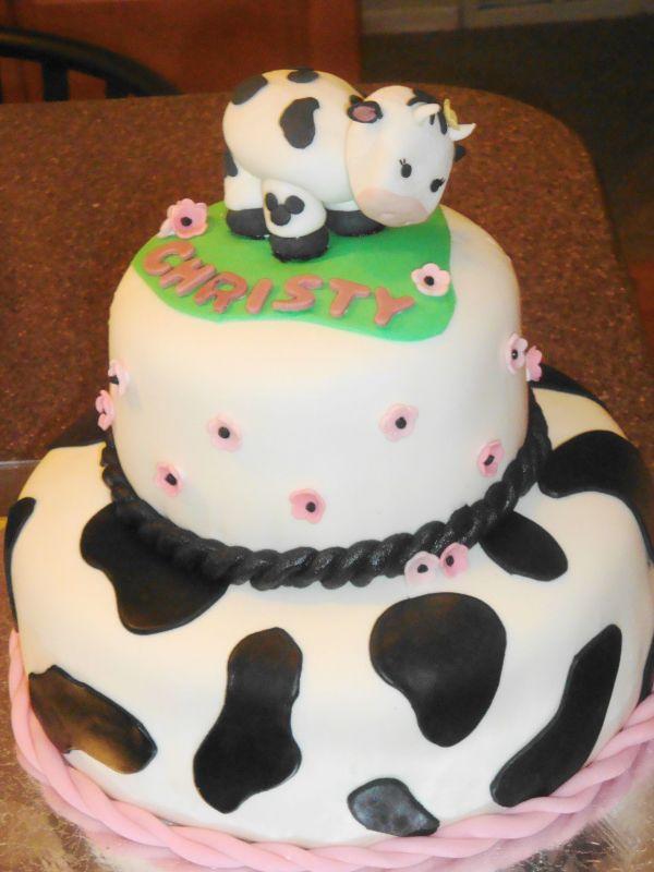 6 Cow Birthday Cakes For Toddler Photo Cow Birthday Cake Cow