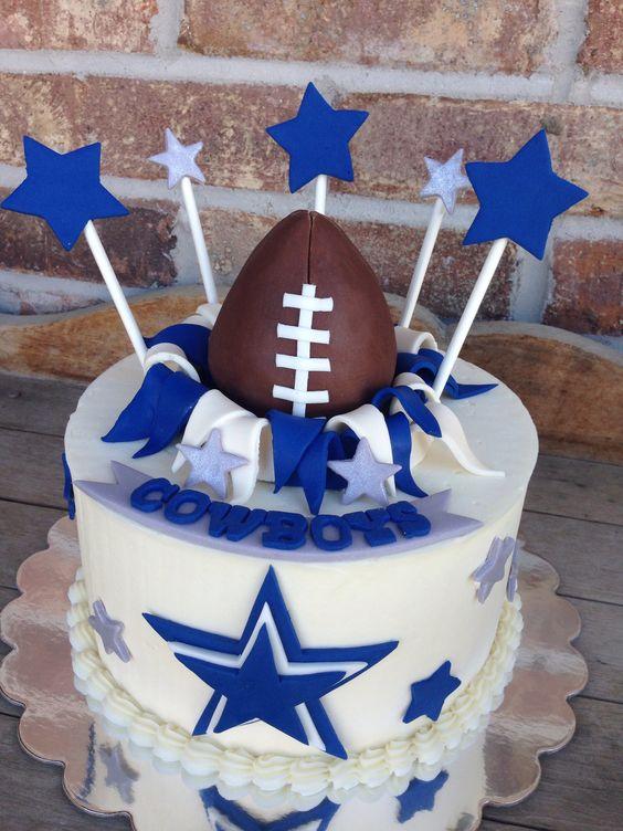 Dallas Cowboys Happy Birthday Cake