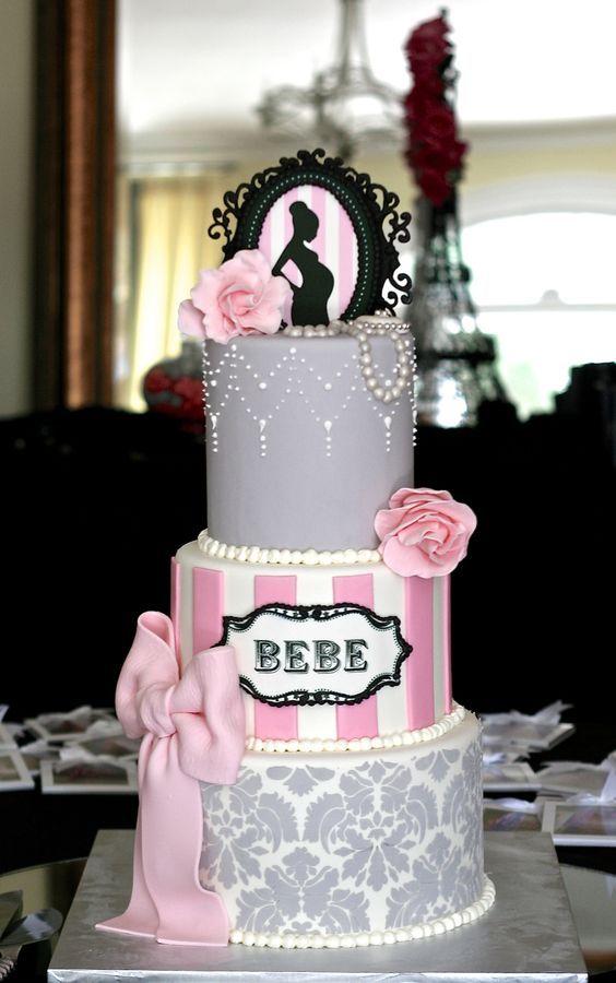 9 Elegant Baby Shower Cakes Buttercream Photo Elegant Baby Shower