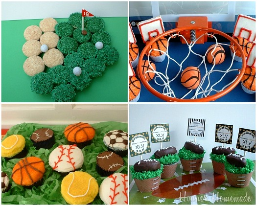 7 Photos of Father's Day Sports Cupcakes