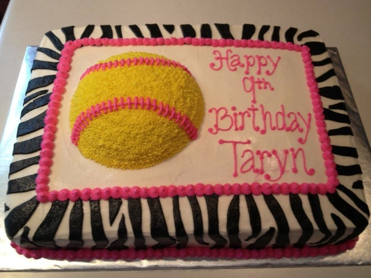 Astounding 9 Pink Softball Cakes Photo Softball Birthday Cake Girl Personalised Birthday Cards Paralily Jamesorg
