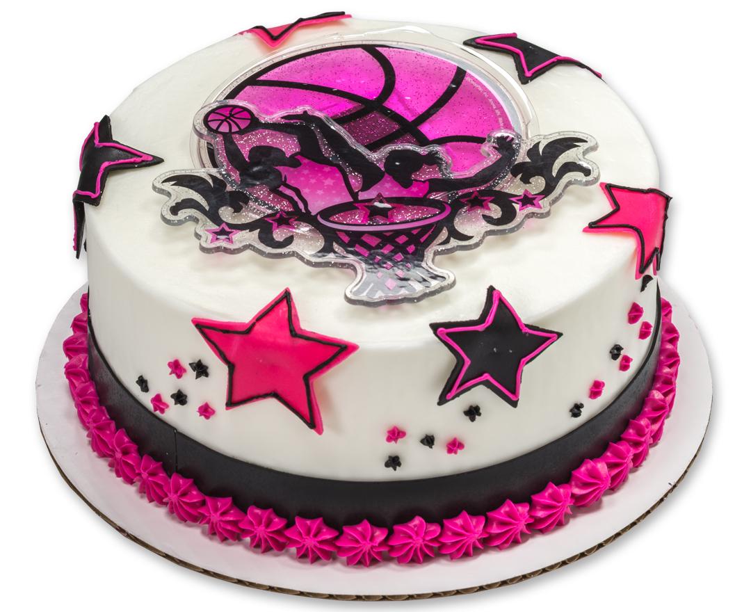 8 Pink Basketball Cakes For Girls Photo Girls Basketball Cake
