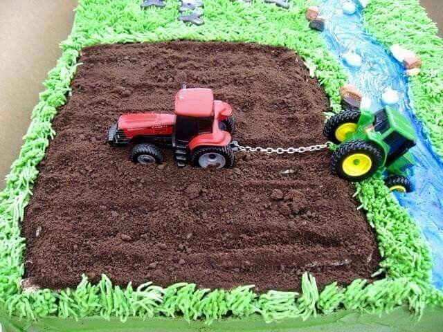 12 Tractor Truck Birthday Cakes Photo Tractor Trailer Truck Cake