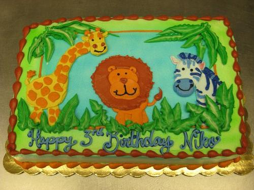 Birthday Cakes Jungle Theme ~ Jungle ba shower sheet cake stephanie dillon ls hy vee hyvee