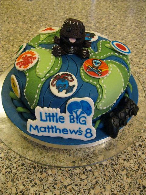 Enjoyable 7 Littlebigplanet Game Cakes Photo Big Cool Birthday Cakes Birthday Cards Printable Riciscafe Filternl
