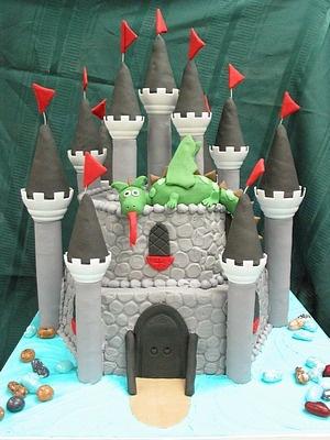 Pleasing 12 Gothic Dragon Birthday Cakes Photo Medieval Castle Birthday Funny Birthday Cards Online Overcheapnameinfo