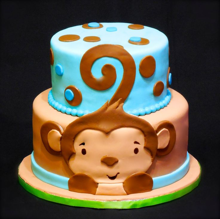 11 Monkey Cakes For Boys For 8 Year Old Photo Monkey Birthday Cake
