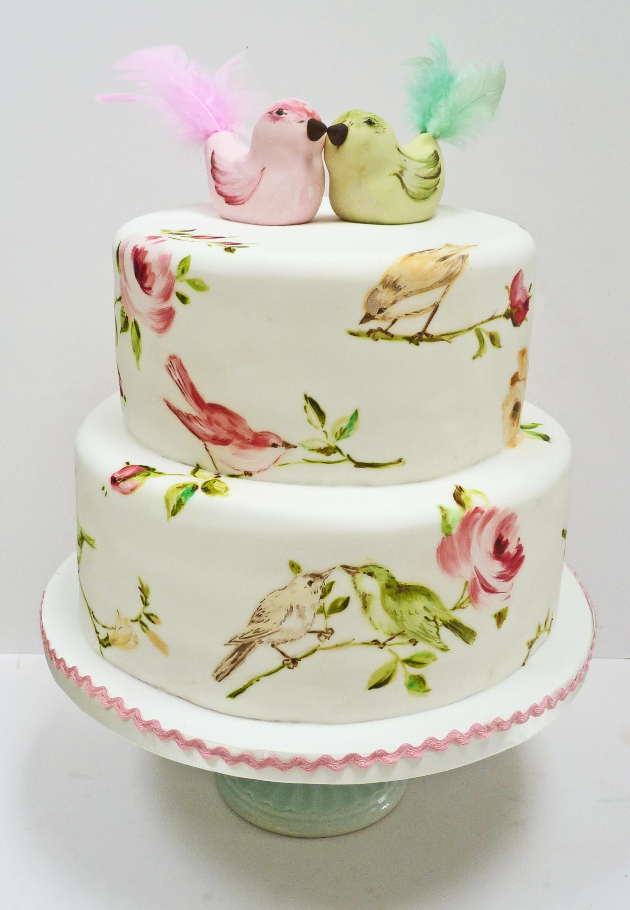 11 Fondant Cakes Birds Photo Fondant Cake Bird Birthday Cake