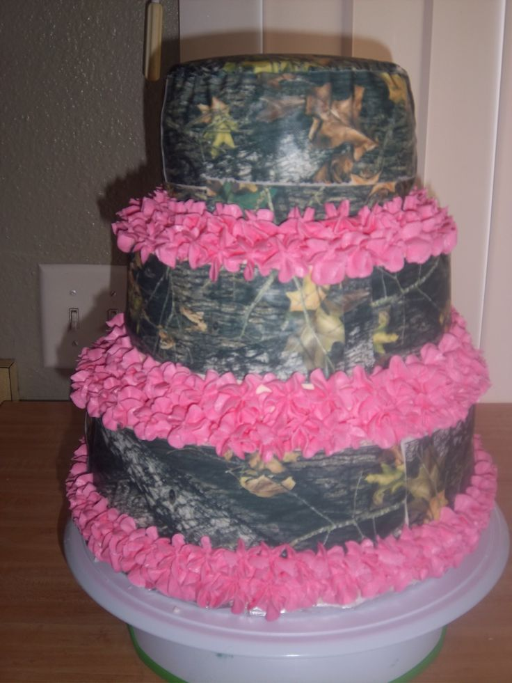12 Mossy Oak Birthday Cakes For Girls Photo Pink Camo Browning
