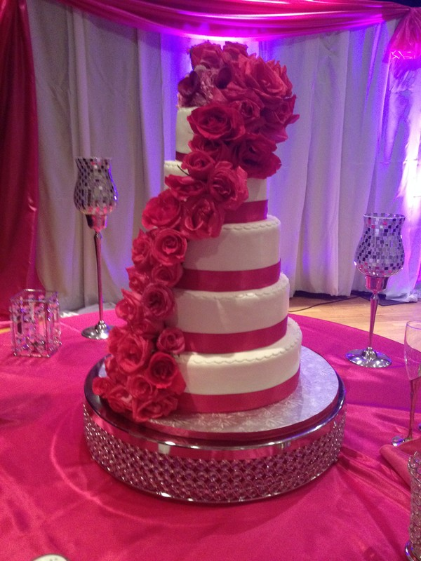 Purple And Fuschia Wedding Cake