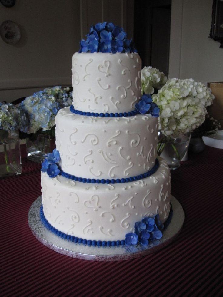 12 Blue And White Engagement Cakes Photo - Unique Wedding Cake ...