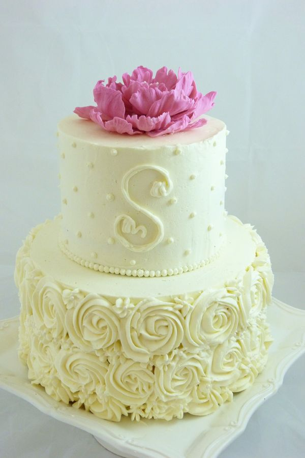 small wedding cakes with roses 8 small buttercream anniversary cakes photo wedding 20247