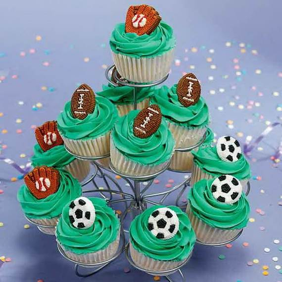 Sports Birthday Cupcake Ideas