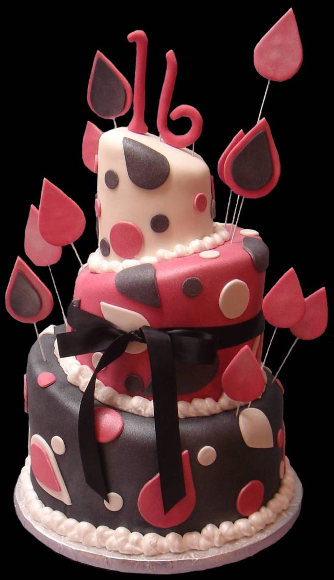 11 The Best Sweet Sixteen Cakes Photo Pink Sweet 16 Birthday Cake