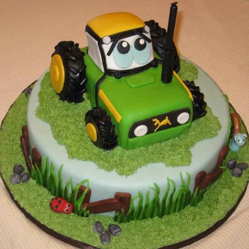 Wondrous 11 1St Birthday Cakes With Tractors Photo Tractor Birthday Cake Personalised Birthday Cards Beptaeletsinfo