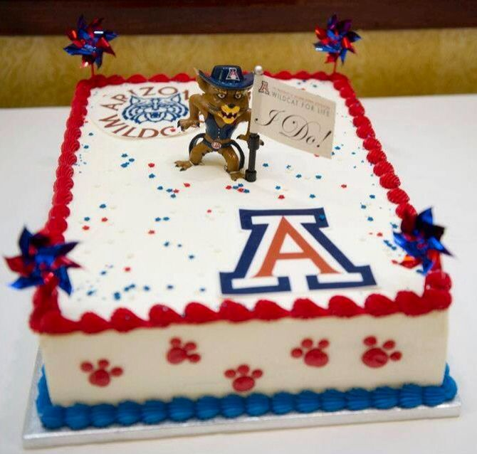 Phenomenal 11 University Of Arizona Cakes Photo University Of Arizona Birthday Cards Printable Trancafe Filternl
