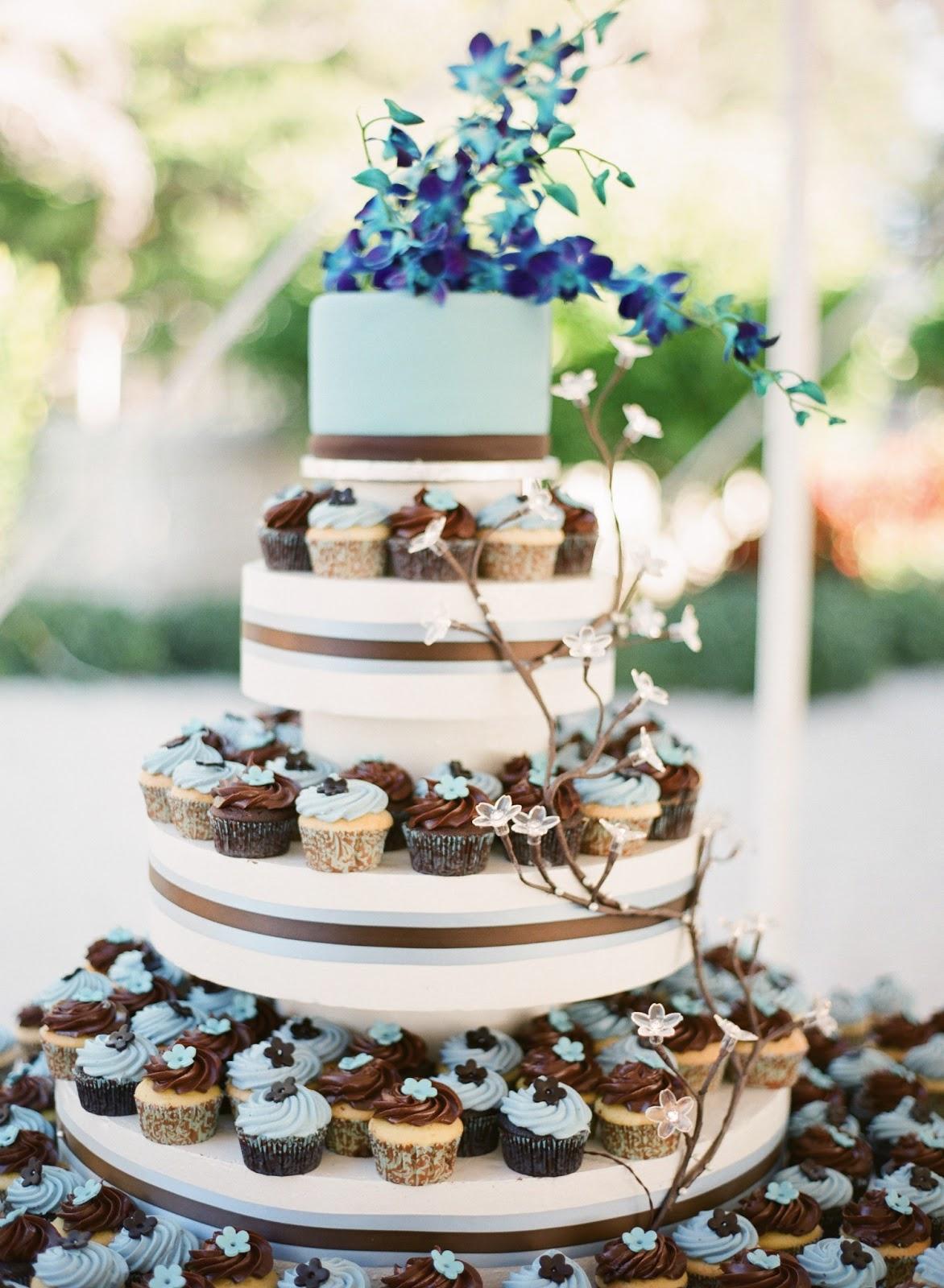 12 Wedding Cakes With Cupcakes On Tiers Photo Cupcake Wedding Cake