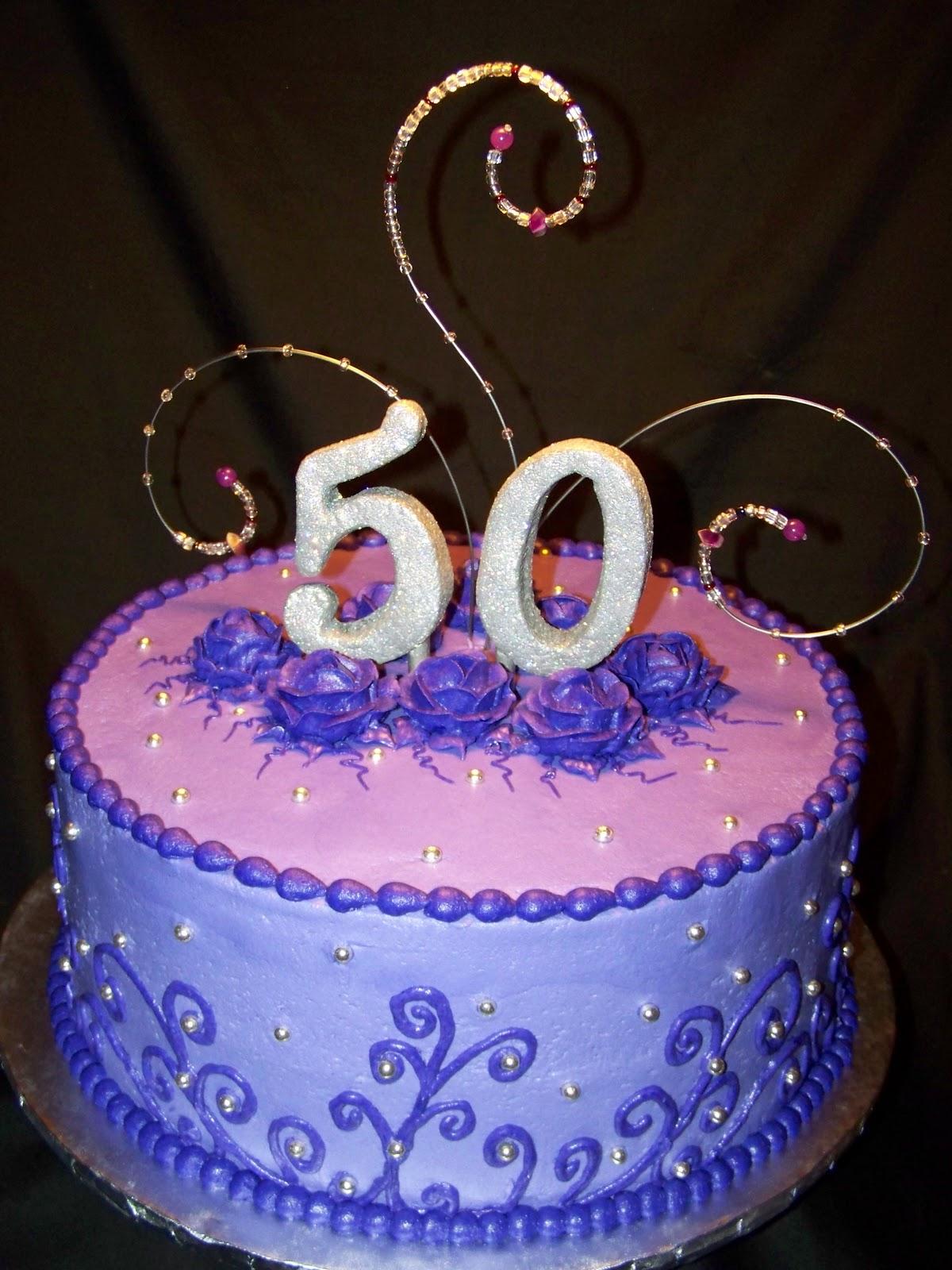 10 Purple 50th Birthday Sheet Cakes Photo