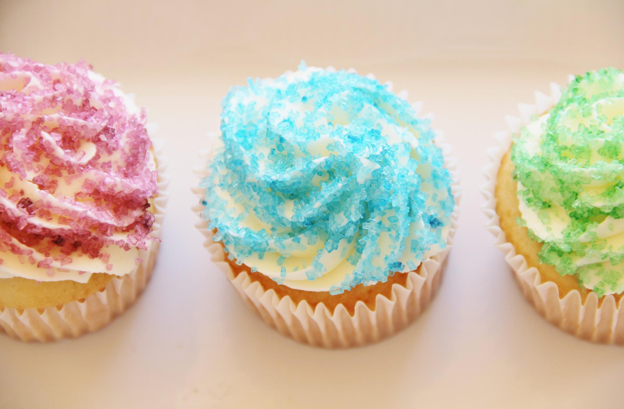 Birthday Cupcakes With Sparkles