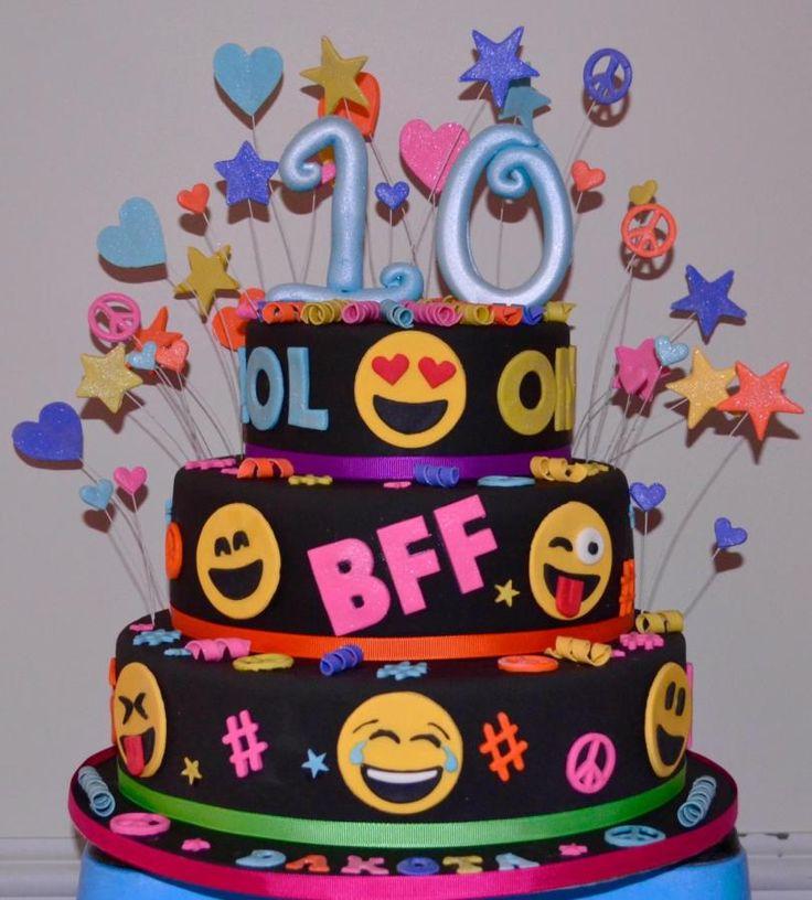 Emoji 10 Birthday Cakes For Girls