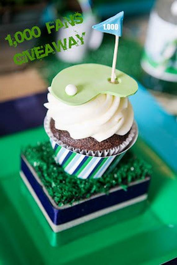 Golf Birthday Cupcakes
