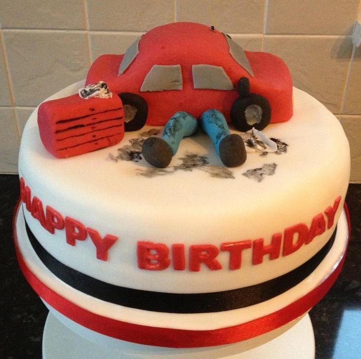 7 Mechanic Themed Cakes Photo Happy Birthday Mechanic Cake