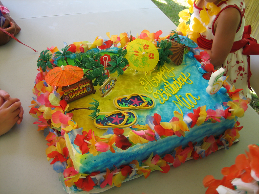 Hawaiian Luau Party Cakes Ideas