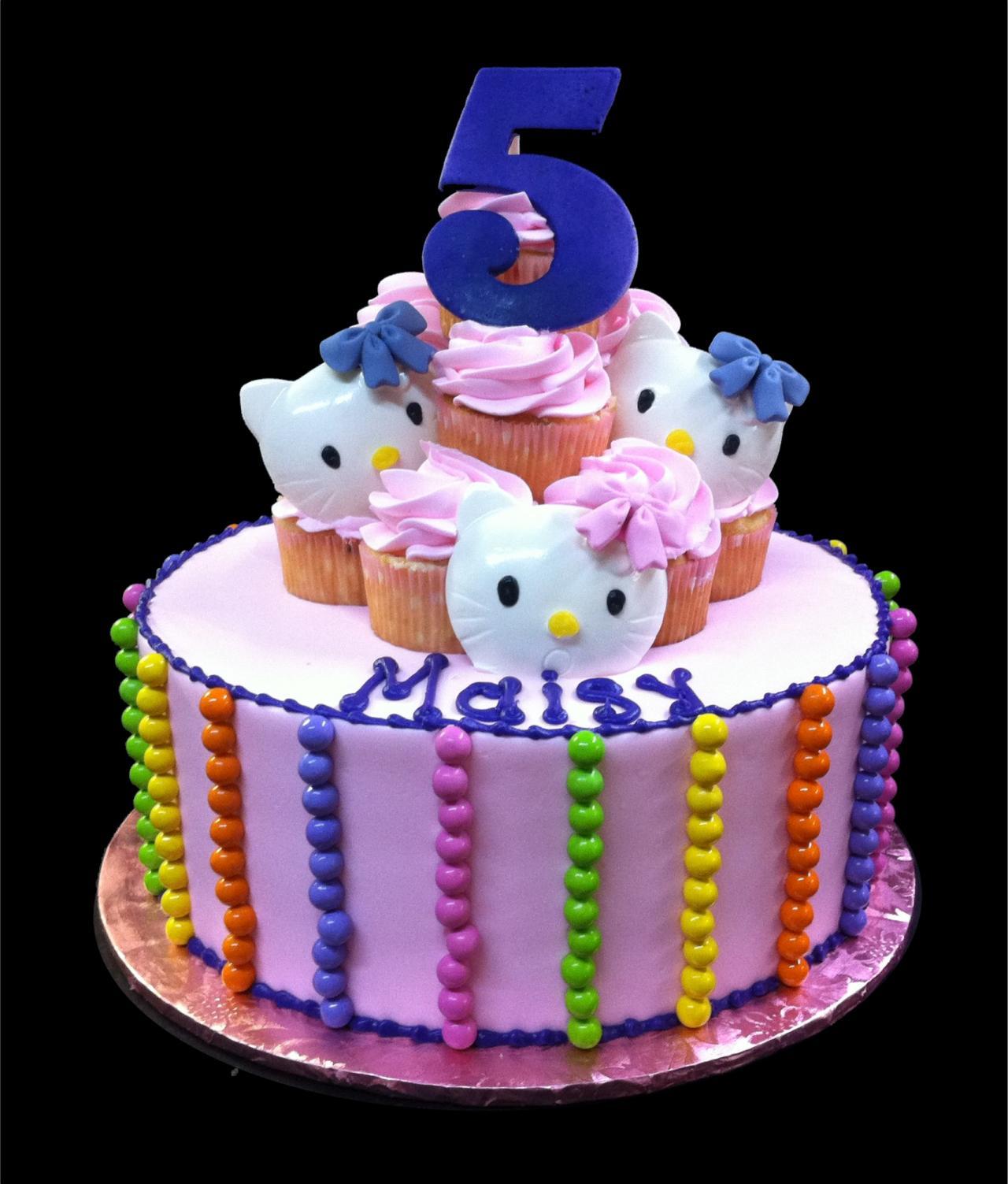 Hello Kitty 5th Birthday Cake