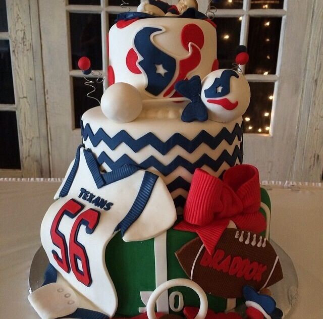 11 Houston Texans Birthday Cakes Cupcakes Photo Houston Texans