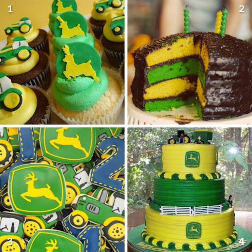 9 John Deere Birthday Cake And Cupcakes Photo John Deere Tractor