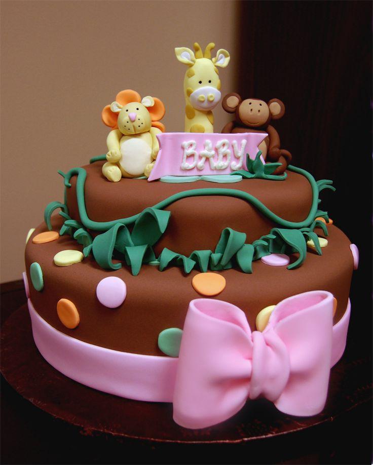 12 Girl Jungle Themed Cakes Photo Safari Baby Shower Cake Girl