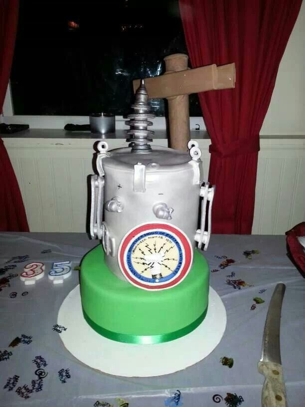 12 Birthday Cakes Images For Electrical Lineman Photo Lineman