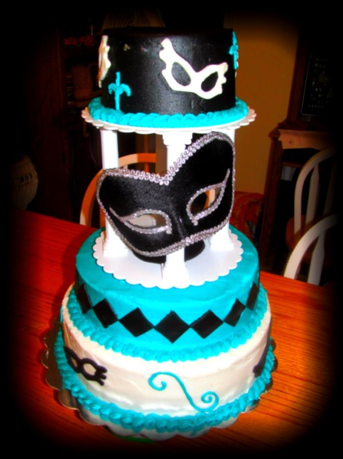 10 16 Cakes Masquerade Photo Masquerade Sweet 16 Birthday Cake