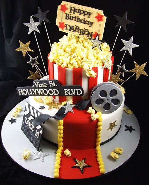 Remarkable 12 Vintage Movie Night Birthday Cakes Photo Movie Night Birthday Funny Birthday Cards Online Alyptdamsfinfo