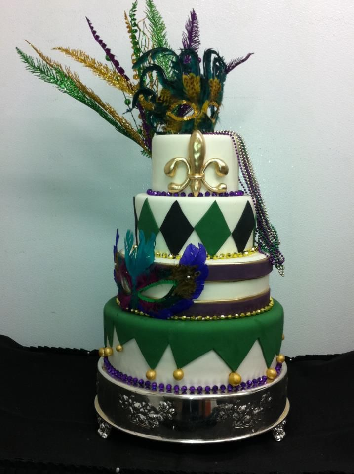 New Orleans Themed Birthday Cake