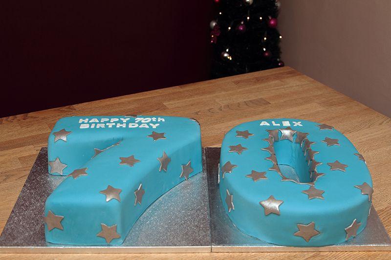 5 70 Shaped Birthday Cakes Photo Like Numbers