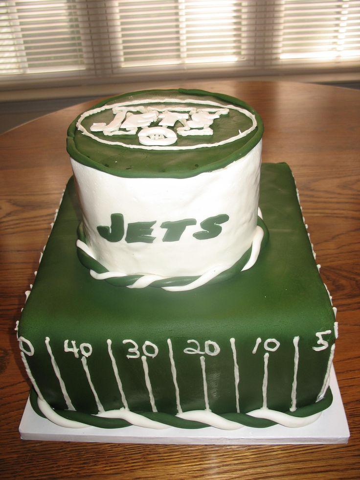 Awe Inspiring 12 Ny Jets Birthday Cupcakes Photo Ny Jets Football Cake Ny Funny Birthday Cards Online Amentibdeldamsfinfo