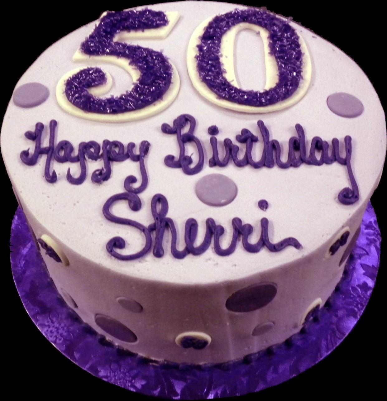 Polka Dot 50th Birthday Cake