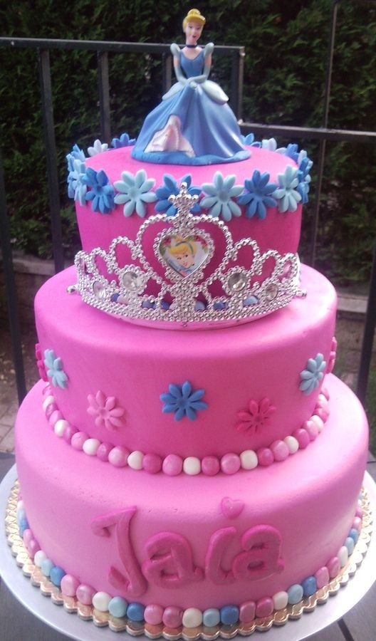 8 Princess Birthday Cakes 3 Layered Photo Princess Birthday Cake