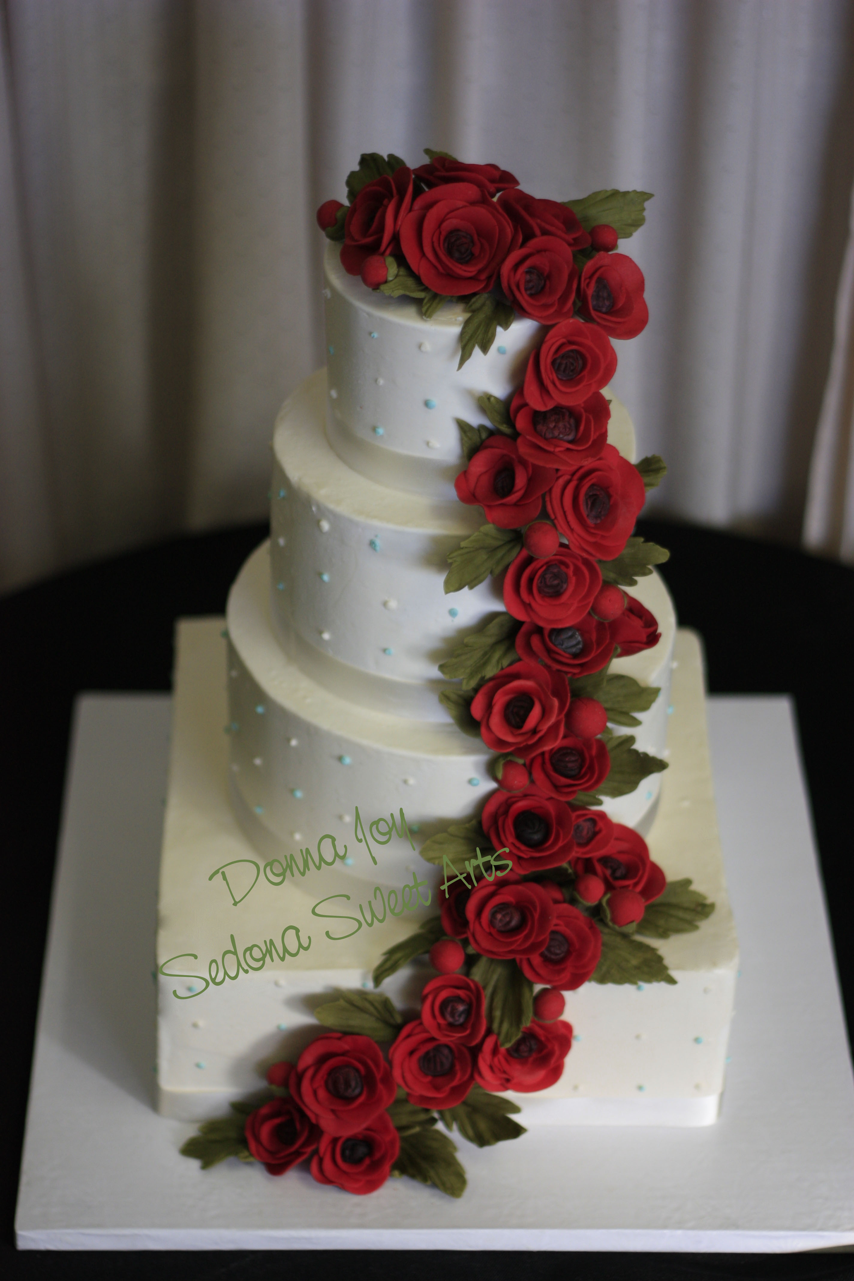 11 Red And White Buttercream Wedding Cakes Photo - Wedding Cake ...