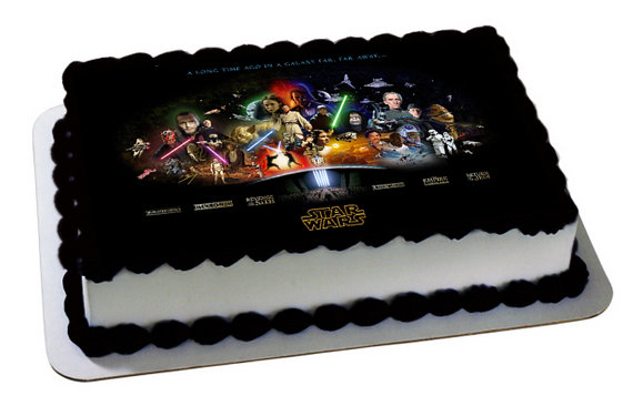 12 Star Wars Themed Sheet Cakes Photo Star Wars Sheet Cake Star