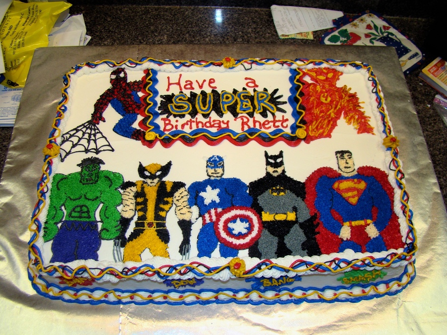 Pleasant 9 Superhero Birthday Cakes For Little Boys Photo Super Heroes Funny Birthday Cards Online Inifofree Goldxyz