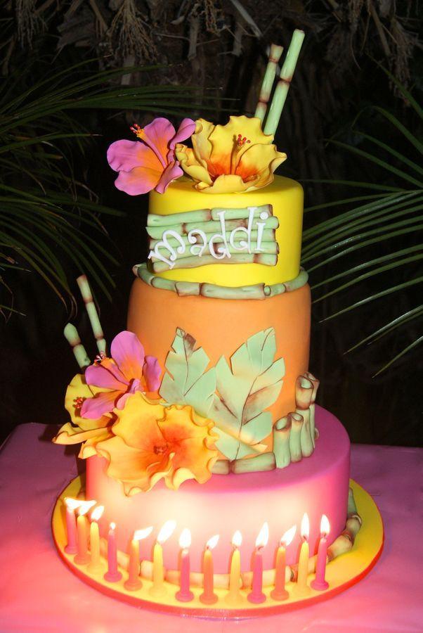 Magnificent 9 Tropical Birthday Cakes Photo Tropical Birthday Cake Tropical Funny Birthday Cards Online Kookostrdamsfinfo